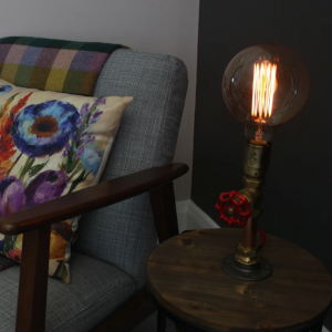 Recycled Valve Copper Lamp
