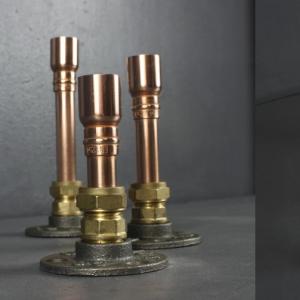 Trio Copper Candle Holders