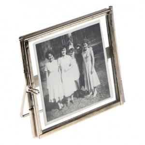 Standing Brass Frame In Silver