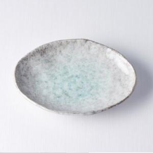 Aqua Splash Oval Plate