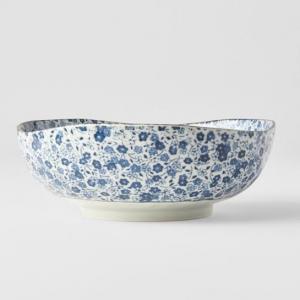 Blue Daisy Uneven Bowl