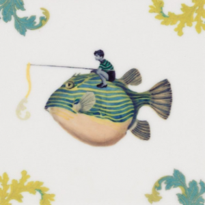 Catch of the Day Mini Tile