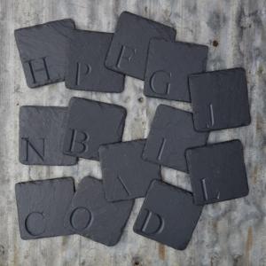Alphabet Carved Coasters