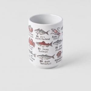 Fish Names Sushi Mug