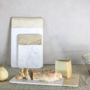 Bwari Short Marble Board – White