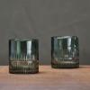dark emerald glass tumbler