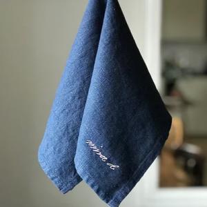 Navy 100% Linen Napkin