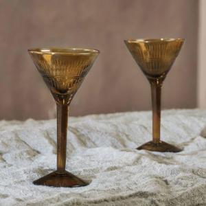 Mila Cocktail Glass – Burnt Amber