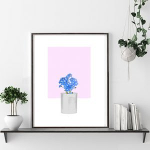 Forget-Me-Not Print – Soft Pink