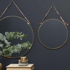 Kiko Small Round Mirror – Antique Brass