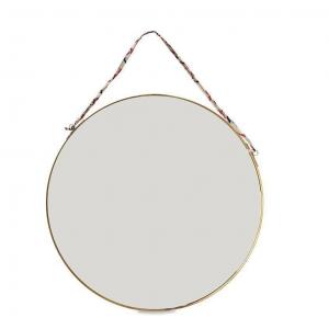 Kiko Large Round Mirror – Antique Brass