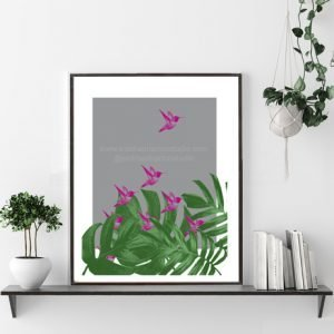 Tropical Humming Bird Print