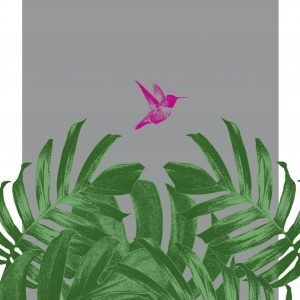 Tropical Humming Bird Flying Print