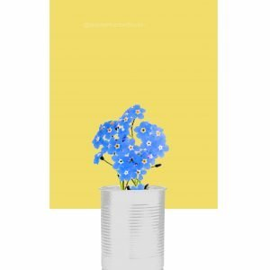 Forget-Me-Not Print – Delicious Yellow