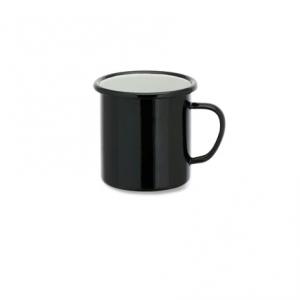 Abessa Enamel Mug Black