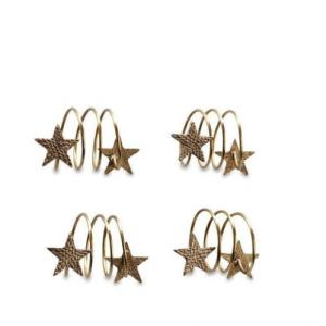 Star Napkin Rings – Set 4
