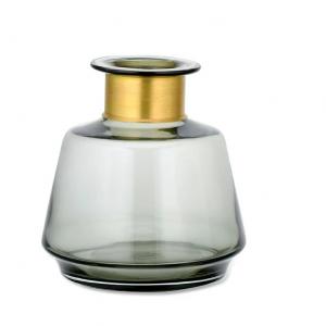 Miza WIDE Glass Vase – Smoke