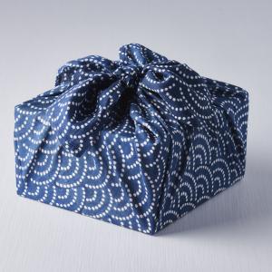 Reusable Furoshiki Wrap Blue